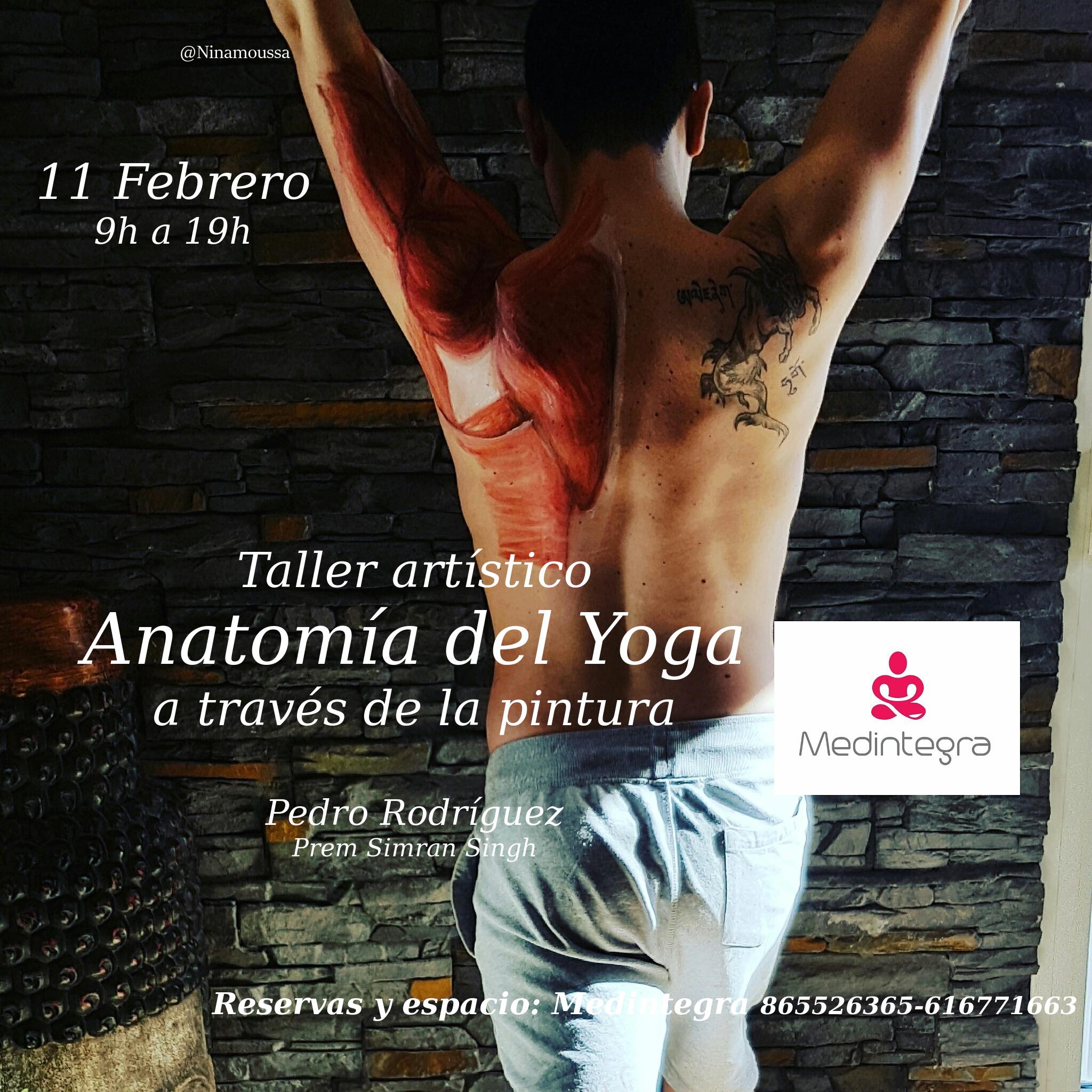 Taller artístico. Anatomía del Yoga - Yoga Terapeutico